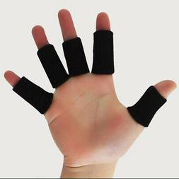 10pcs Sport Basketball Flexible Finger Sleeves Wraps Thumb S