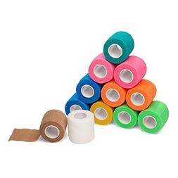 "12-Pack, 2"" x 5 Yards, Self-Adherent Cohesive Tape, Strong"