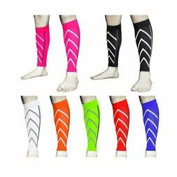 1Pair Adjustable Compression Sport Calf Support Sleeve Shin