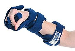 Comfy Adjustable Cone Hand, Pediatric Large, Navy Blue, Head