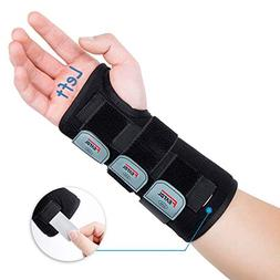 Featol Adjustable Wrist Support Brace with Splints for Carpa