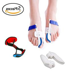 5Pcs Bunion Corrector Adjustable Bunion Splint Night Time So