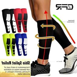 Calf Leg Running Sports Compression Leg Sleeve Socks Shin Sp