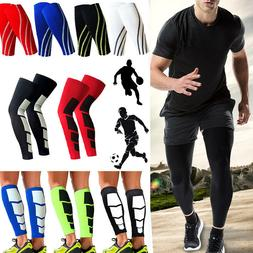 Calf Supports Knee Compression Running Sleeve Mens Womens Sh