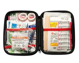 Compact First Aid Kit Hard Shell Complete 125-Piece For Home