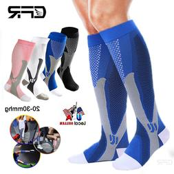 Compression Socks 20-30 mmHg Best Copper Athletic Fit Shin S
