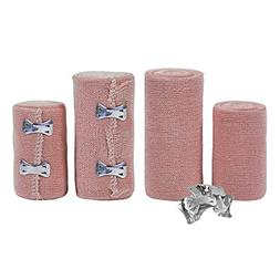 FlexTrek Set of 4 Elastic Bandage Wrap Compression Roll with