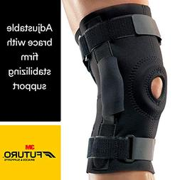 Futuro Hinged Knee Brace, Firm Stabilizing Support, Adjust t