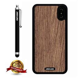 iPhone X Case, Wood Texture Case, Cowcool Ultra Thin Soft Si