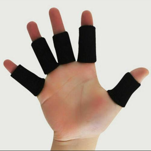 10pcs sport finger splint wrap sleeves support