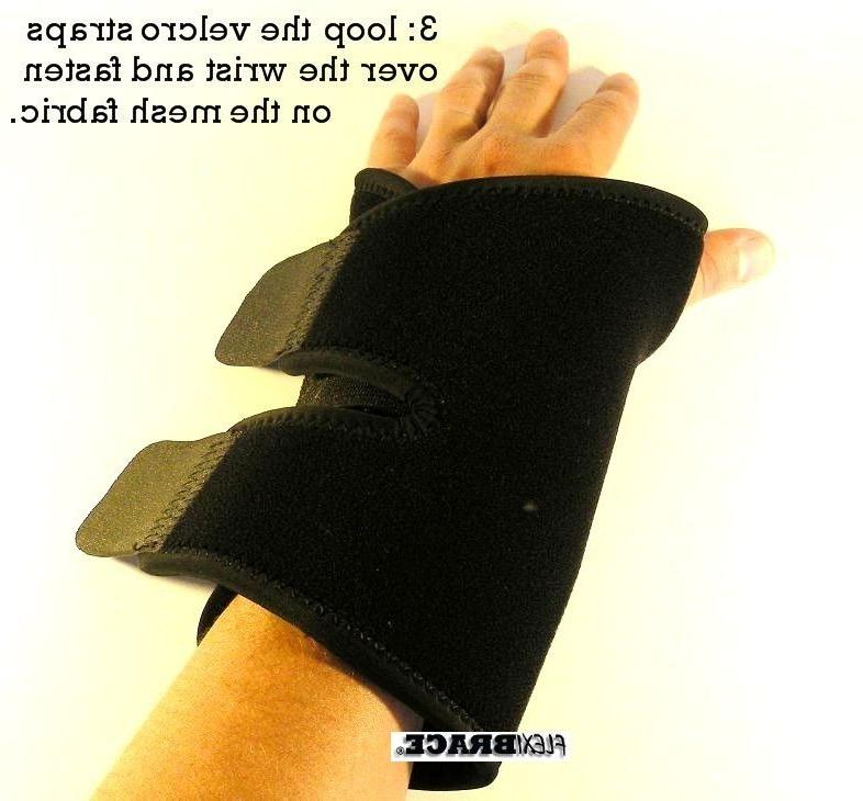2 Wrist Hand Carpal Tunnel Support Splint Band Flexibrace