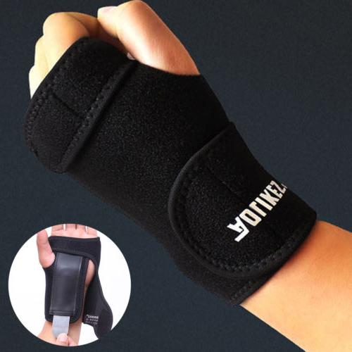 adjustable wrist hand brace palm support carpal