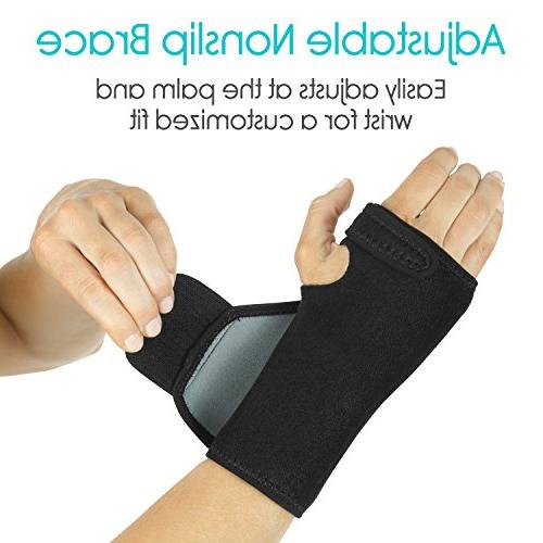 Vive Carpal Support Wrap Women, Injuries Pain Removable - Ergonomic Left Hand