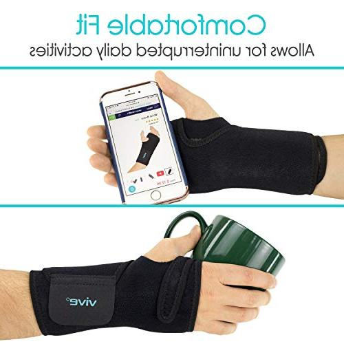 Vive Wrist Carpal Tunnel Hand Support Wrap Women, Bowling, Injuries Pain Relief Removable - Ergonomic Left Hand