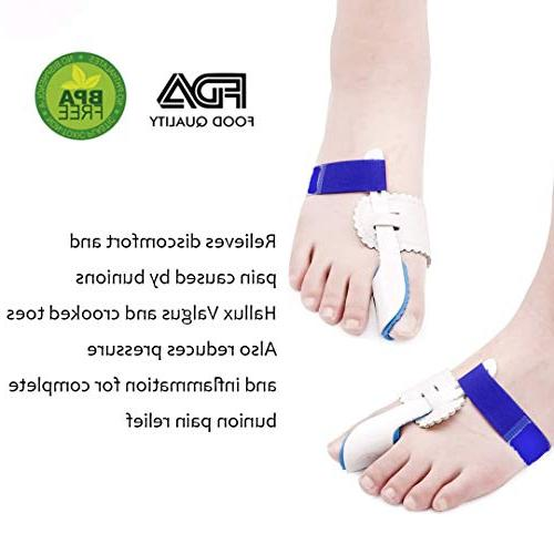 Bunion Splints with Hallux Joint,Adjustable Protector Sleeves