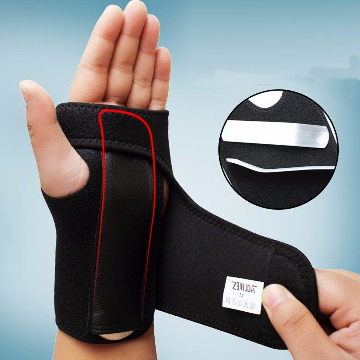 carpal tunnel wrist brace with removable steel