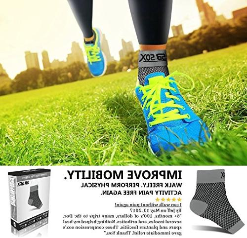 SB SOX Compression Sleeves for Men Fasciitis Socks for Plantar Fasciitis Relief, Pain, and Everyday Use Arch Support