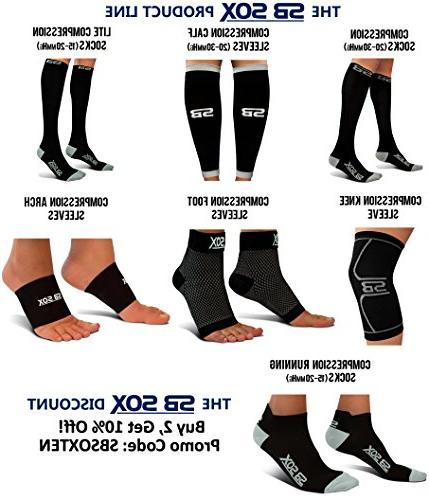 SB Sleeves for Men Women - Fasciitis Socks for Plantar Fasciitis Pain Pain, Everyday Use with Support