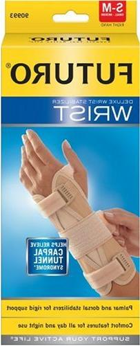 Futuro Deluxe Wrist Stabilizer, Small-Medium, Right Hand,