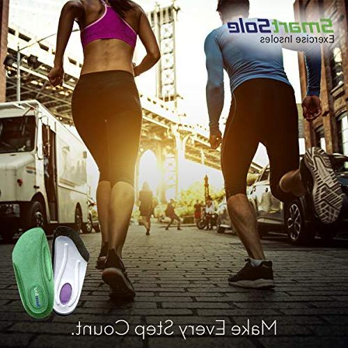 Plantar Flat and Performance Insoles for Walking and Pain - 3/4 Length