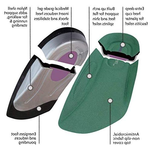 SmartSole Exercise Plantar Fasciitis, Flat Feet and Performance Insoles Walking and Running Pain Length