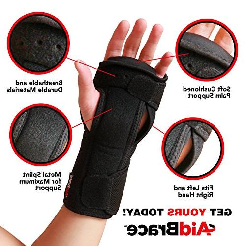 AidBrace Night Support Brace Both Tunnel and Relieve and Treat Wrist Adjustable