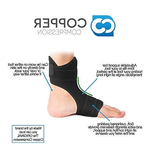 Copper Plantar Night Foot Brace and Planter Fasciitis Night for or Left Foot. Sleep, Recovery,