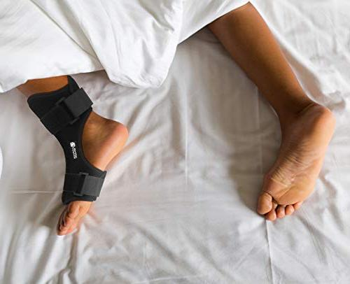 Copper Night Drop Foot and Planter Night for Right or Left Foot. Night Splints Support Sleep, Recovery, Arthritis