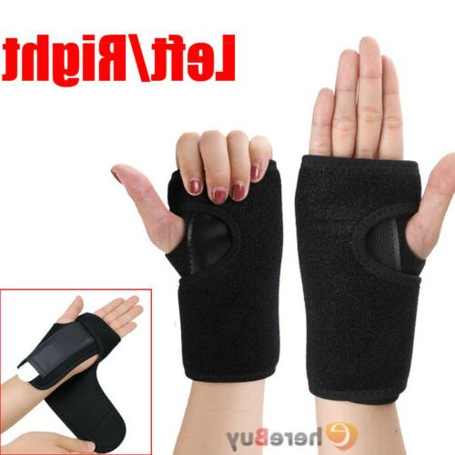 right left wrist hand brace support splint