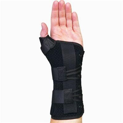 Med Spec Ryno Lacer Wrist & Thumb Support, Black Medium Left