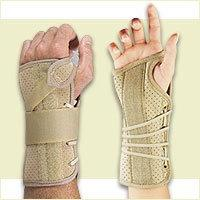 Fla 22-150LGBLK Soft Fit Suede Finish Wrist Brace for Right,