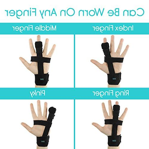 Vive Trigger Finger - Full and Wrist Adjustable Straightening Treatment for Injury,