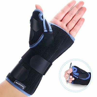 Wrist Brace with Spica Splint Forearm Hand Support Wrap Cast Right Hand