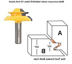 Valiant 45° Lock Miter Router Bit With 1/2 Inch Shank - 45-