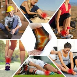 Medical Ankle Support Brace Foot Guard Sprains Injury Wrap E