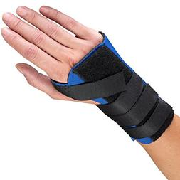 OTC Wrist Splint, Cock-up Style, Neoprene, Black, Medium