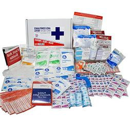 OSHA & ANSI First Aid Kit Refill/Upgrade, 50 Person, 196 Pie