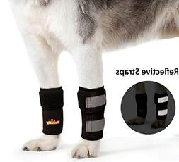 PAIR of NeoAlly Dog Braces Front Leg Carpal Support Canine H