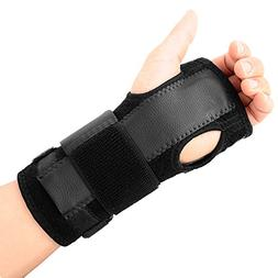 EXski Removable Wrist Hand Splint Palm Support Brace Carpal