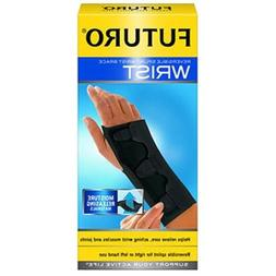 FUTURO Splint Wrist Brace, Black, Medium 1 ea