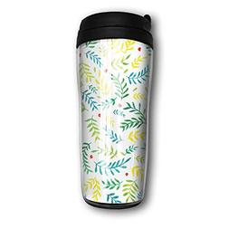 Free Watercolour Plant Travel Mug Coffee Thermos Stainless S