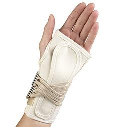 OTC Wrist Splint, Cock-Up Lacing, Canvas, Medium
